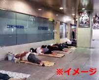 路上で寝ているホームレスの顔面を執拗に攻撃し続ける狂人…