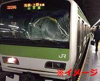 飛び込み自殺を列車の運転席から見た結果…