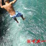 川に飛び込んだ男性が溺ぼれて沈んでしまうまでの一部始終がコチラ…