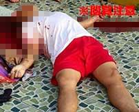 寺院で飛び降り自殺してしまった男性、頭が割れてしまい中身が丸見えに…